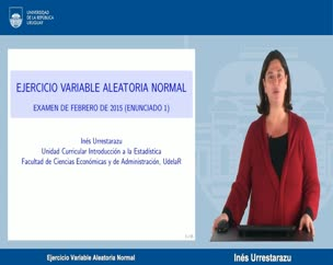 Ejercicio Variable Aleatoria Normal